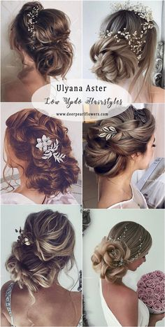 Ulyana Aster Low Updo Wedding Hairstyles #weddings #weddingideas #weddnghairstyles #hairstyles ❤️ http://www.deerpearlflowers.com/ulyana-aster-wedding-hairstyles-2/