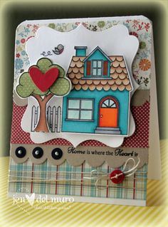 Jen del Muro. an idea for my birdhouse set with the sweet cottage papers.