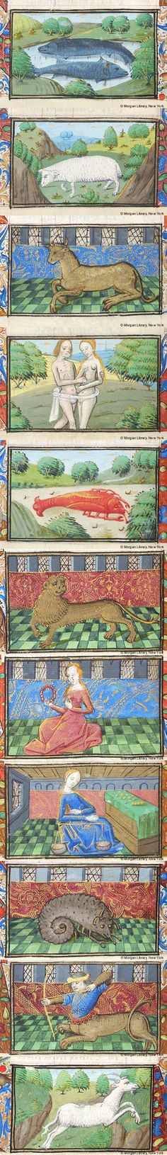Signs of the Zodiac | Book of Hours | France, Rouen | ca. 1480 | The Morgan Library & Museum