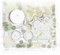 Zweiter Platz in der UVA Orfelinato / Medellín, Kolumbien, Planta g … - Architectural Style Landscape Design Plans, Landscape Architecture Design, Architecture Portfolio, Urban Landscape, Masterplan Architecture, Landscaping Design, Architecture Site Plan, Plan Drawing, Site Plans