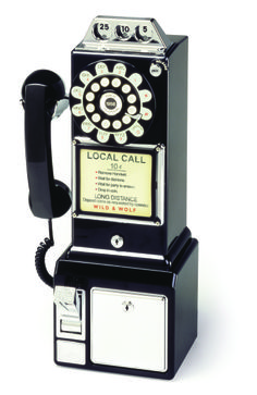 This one example of the types of phones people had in their homes in the 1950s when Ray Bradbury wrote Fahrenheit 451.