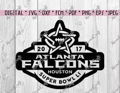 SVG ATLANTA FALCONS super bowl 2017 Houston by MamaCraft4You