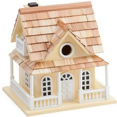 Cape May Cottage Birdhouse. Fully functional birdhouse, ventilation, removable walls for easy cleaning, drainage. #birdhouse  #ad
