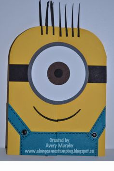 Along Came Stamping: Despicable Me Minion #StampinUp #Minion #DespicableMe #PunchArt