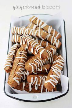 Gingerbread Biscotti Recipe - One Sweet Appetite Gingerbread Biscotti Recipe, Best Biscotti Recipe, Biscotti Cookies, Christmas Biscotti Recipe, Bar Cookies, Yummy Cookies, Cookie Bars, Cookie Desserts, No Bake Desserts