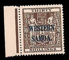 Western Samoa 1955 Arms 30s. brown (SG211) MNH £200/$320 - http://stamps.goshoppins.com/commonwealth-british-colonial-stamps/western-samoa-1955-arms-30s-brown-sg211-mnh-200320/