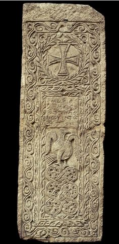 Limestone gravestone possibly from Thebes,   8th century AD, Coptic period, Egypt.