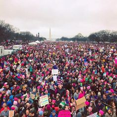 President Trump, you made a big mistake. By trying to divide us up by race, religion, gender and nationality you actually brought us closer. #WomensMarch