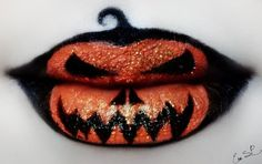 Макияж для губ на Хэллоуин