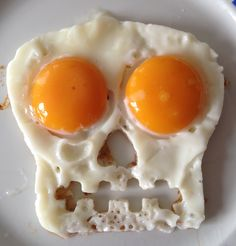 fried egg skull