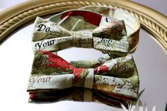 RESERVED Custom Order for ROB 2 Maps Bow Ties by AsherTailored