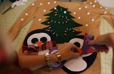 How to Make an Ugly Christmas Sweater | Ugly Sweater Ideas by DIY Ready at http://diyready.com/diy-project-ugly-christmas-sweater/