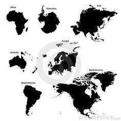 Seven Continents by Steven Bourelle, via Dreamstime
