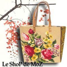 French needlepoint tapestry Tote Bag leshopdemoz.com