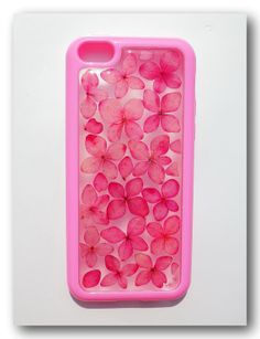 Handmade iPhone 5C case. Resin with Dried flower by Annysworkshop, $20.00