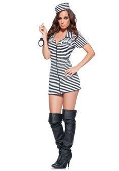 111dc94cc2 Sensual Disfraz de Prisionera Incluye  Vestido y Sombrerito