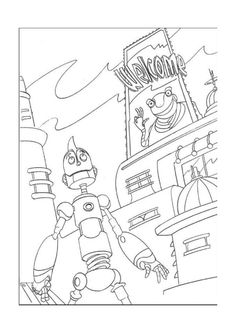 Robots Printable Activities For Kids Online Coloring Book 8
