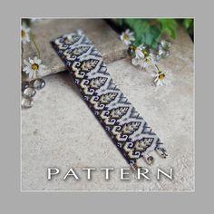 Peyote Beading Pattern : Art Deco Design Bracelet Cuff - Instant Download