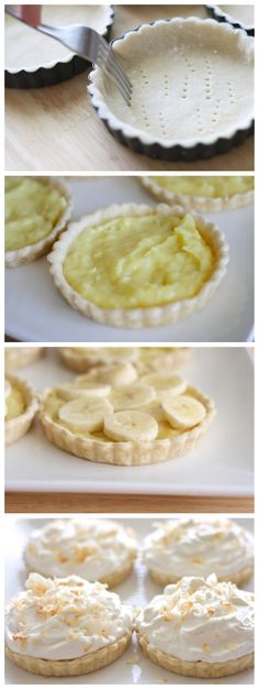 Coconut Banana Cream Tarts for everyone at the party!