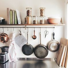 open kitchen shelves. www.thewolfandthewildflower.com