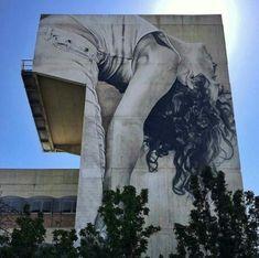 Street Art by Guido van Helten, located in Melbourne, Australia