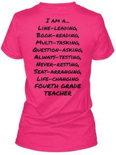 I am a 4th Grade Teacher T-Shirt   Teespring