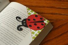 Lady bug corner bookmark