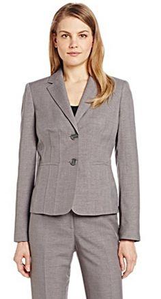 Classic grey women's suit vest. http://www.formalworkattire.com