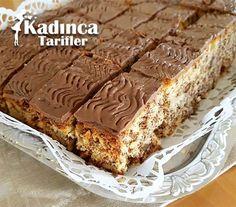 Çikolatalı Cevizli Kek Tarifi Gateaux Cake, Snack Recipes, Snacks, Cake Bars, Pudding Cake, Chocolate Cake, Banana Bread, Food And Drink, Favorite Recipes