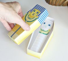 Egyptian Sarcophagus Mummy Craft - Egypt Party Favors - DIY Paper Craft for Kids | Small for Big