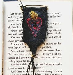 A gift for someone you love to remind them of of your love & gratitude. Created from vintage fabrics, hand stitched on… Magic Charms, Flag Pins, Textiles, Prayer Flags, Halloween Books, Ribbon Work, Brooches Handmade, Metal Pins, Eye Necklace