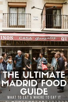 Wondering where to eat in Madrid? Check out my free Madrid guide to learn what to eat in Madrid, the best Madrid tapas bars & my favorite Madrid tapas tour! Restaurant Madrid, Madrid Restaurants, Madrid Food, Madrid Guide, Spain Travel Guide, Madrid Travel, Spain And Portugal, Foodie Travel, Wine