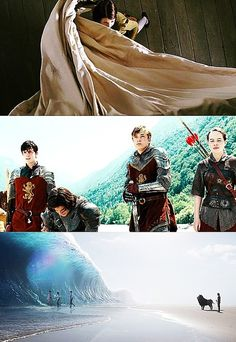 I wish the middle one was a more epic shot like the first two, but I get the point. Entering Narnia, existing in Narnia, exiting Narnia. In order.