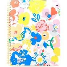 BANDO Mega blooms notebook ($13) ❤ liked on Polyvore featuring home, home decor and stationery