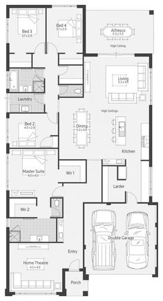 Stockholm dale alcock homes home plans in 2019 дом, одноэтаж Home Design Floor Plans, Plan Design, Floor Design, House Design, Best House Plans, Dream House Plans, House Floor Plans, Building Plans, Building A House