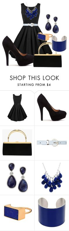 """""""Blue Black"""" by prestypaulina on Polyvore featuring Balmain, INC International Concepts, Maison Margiela, women's clothing, women, female, woman, misses and juniors"""