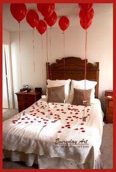 Einzigartigen DIY Valentinstag Geschenke für Männer - Schlafzimmer Dekoration