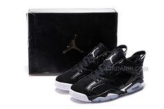 new style 8784b c8646 air jordan 6 gs womens retro gs low black oreo for sale