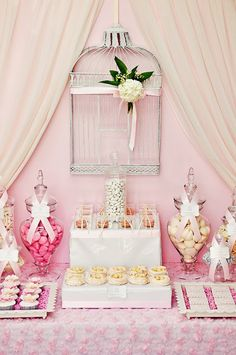 Little Big Company | The Blog: Pretty Pink Lovebird/Birdcage Theme For Wedding Styled by P by Design