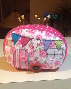 Caravan pincushion Made by Bernice Mills