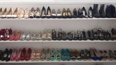 """My husband made me a """"wall"""" for my shoes // BEST HUSBAND // GETTING READY ROOM // SHOE WALL // WALK-IN CLOSET"""