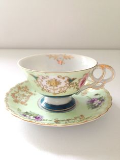 Vintage Ucagco China Handpainted Tea Cup and by MariasFarmhouse, $59.00