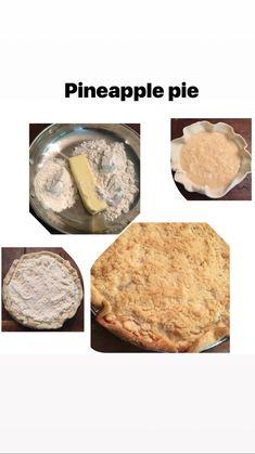 Pineapple crumble pie