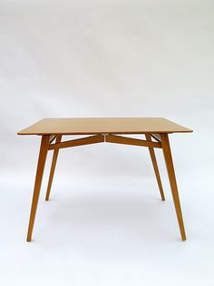 Jacob Müller; Beech Folding Dining Table for Aermo Mobel, 1960s.