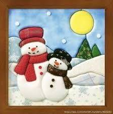 Resultado de imagem para patchwork+sin+aguja+navidad Christmas Stocking Kits, Christmas Applique, Christmas Sewing, Felt Christmas, Christmas Snowman, Christmas Stockings, Christmas Crafts, Christmas Decorations, Christmas Ornaments