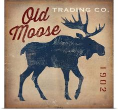 Ryan Fowler Poster Print Wall Art Print entitled Old Moose Trading Co.Tan, None