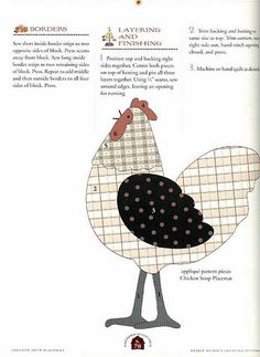cute pattern for chicken. CountrySettings-070 | By flavia_sm1963 on Flickr