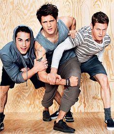 The Vampire Diaries   Tyler Lockewood (Michael Trevino) Jeremy Gilbert (Steven R McQueen) and Matt Donovan (Zach Roerig)