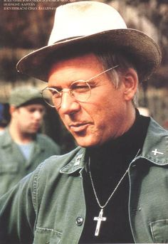 M*A*S*H - 1st Lieutenant Francis John Patrick Mulcahy S.J., commonly called Father Mulcahy, is a Roman Catholic priest and Army chaplain. He is a Loyola graduate and has a sister who is a Catholic nun. Mulcahy always seems bewildered by the doctors' amoral pranks and womanizing behavior. - William Christopher (born October 20, 1932) is an American actor