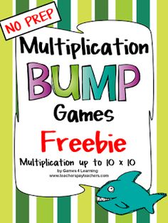 Many of you will be familiar with Bump Games for math. If you have used these games with kids, you will know how much kids love to BUMP! ...